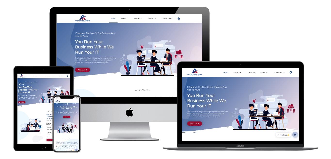 Arc Tech Solutions | Portfolio Websites | CMECK Web Design Portfolio